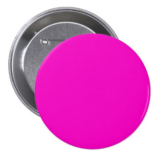 Neon Hot Pink Light Bright Fashion Color Trend 3 Inch Round Button