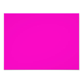 Neon Hot Pink Light Bright Fashion Color Trend Photo Print