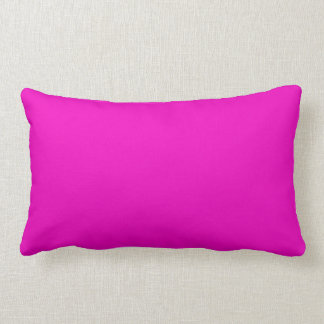 Neon Hot Pink Light Bright Fashion Color Trend Throw Pillow