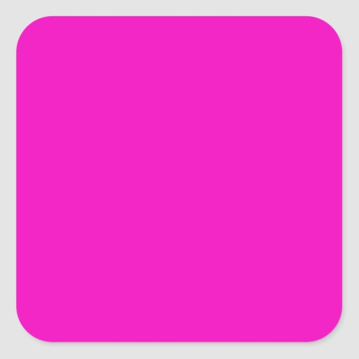 Neon Hot Pink Light Bright Fashion Color Trend Square Stickers