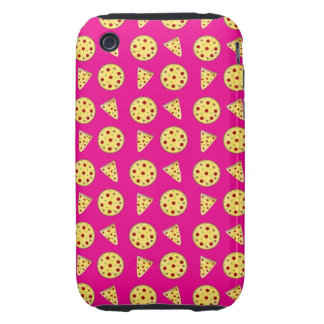 Neon hot pink pizza pattern tough iPhone 3 case