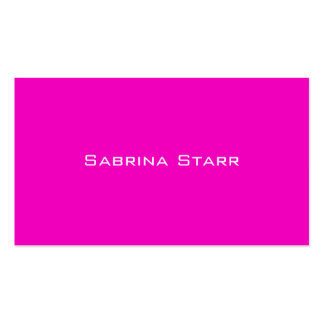 Neon Hot Pink Trend Color  Personalized Card Business Card