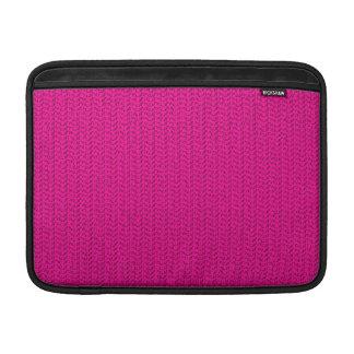 Neon Hot Pink Weave Look Sleeve For MacBook Air