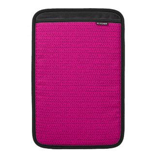 Neon Hot Pink Weave Look MacBook Sleeves