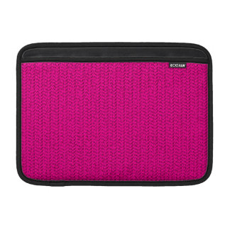 Neon Hot Pink Weave Look MacBook Sleeve