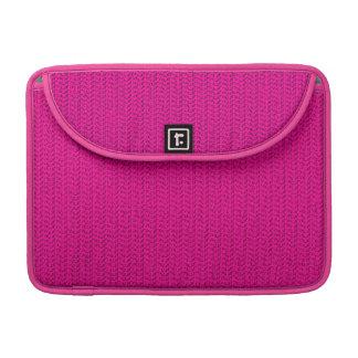 Neon Hot Pink Weave Look MacBook Pro Sleeves