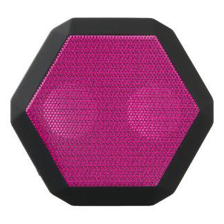 Neon Hot Pink Weave Mesh Look Black Bluetooth Speaker