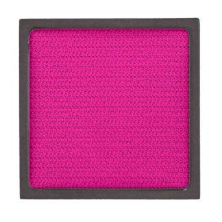 Neon Hot Pink Weave Mesh Look Jewelry Box