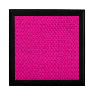Neon Hot Pink Weave Mesh Look Keepsake Box