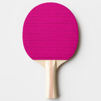 Neon Hot Pink Weave Mesh Look Ping-Pong Paddle