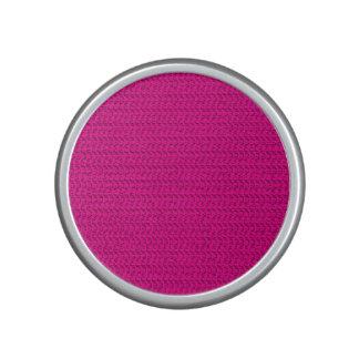 Neon Hot Pink Weave Mesh Look Speaker