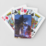 Neon hotel at night, Ocean Drive, South Miami Beac Bicycle Playing Cards