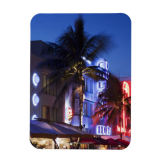 Neon hotel at night, Ocean Drive, South Miami Beac Magnet