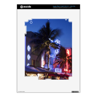 Neon hotel at night, Ocean Drive, South Miami Beac Skins For iPad 3