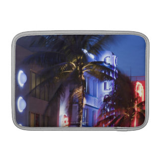 Neon hotel at night, Ocean Drive, South Miami Beac Sleeve For MacBook Air