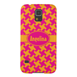 Neon Houndstooth Galaxy S5 Cover