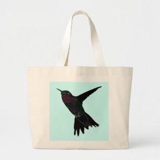 Neon Hummingbird Jumbo Tote Bag