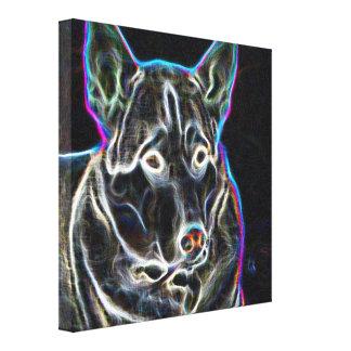 Neon Husky Canvas Print