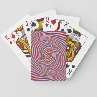 Neon hypnosis playing cards