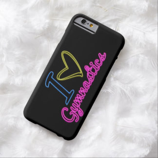 Neon I Love Gymnastics iPhone 6 Case