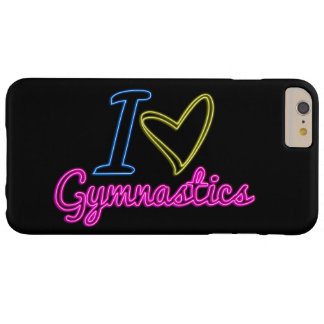 Neon I Love Gymnastics iPhone 6 Plus Case