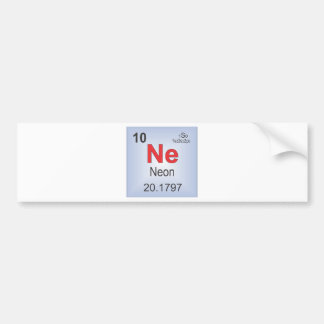 Neon Individual Element of the Periodic Table Bumper Stickers