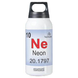 Neon Individual Element of the Periodic Table Insulated Water Bottle