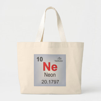 Neon Individual Element of the Periodic Table Large Tote Bag