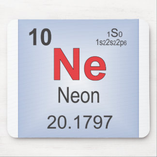 Neon Individual Element of the Periodic Table Mouse Pad