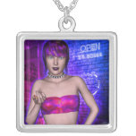 Neon Invitation Gothic Cyberpunk Girl Necklaces