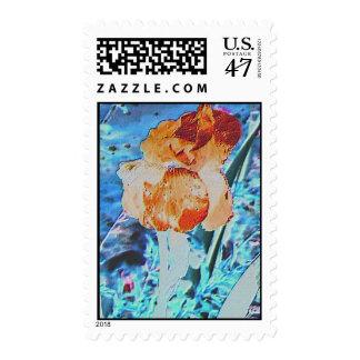 Neon Iris Stamp