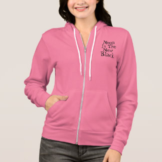 Neon Is The New Black! by Grassrootsdesigns4u Hoodie