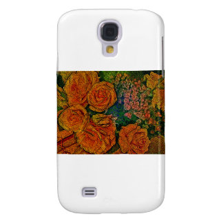 Neon Ivory Roses Scene Samsung Galaxy S4 Cover