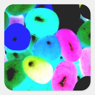 Neon Jellybeans Square Stickers