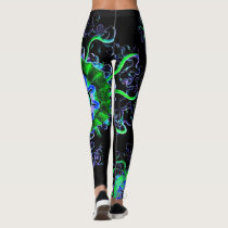 Neon Jellyfish Mandala Yoga Pants Running