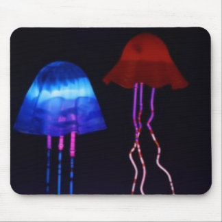Neon Jellyfish Mouse Pad