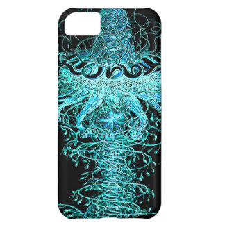 Neon Jellyfish Tornado Graphic Art Design Iphone Case For iPhone 5C