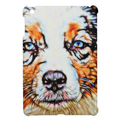 Case Savvy iPad Mini Glossy Finish Case with Australian Shepherd Phone Cases design