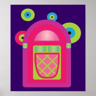 Neon Jukebox Poster