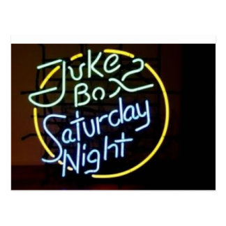 Neon Jukebox Sign Postcard