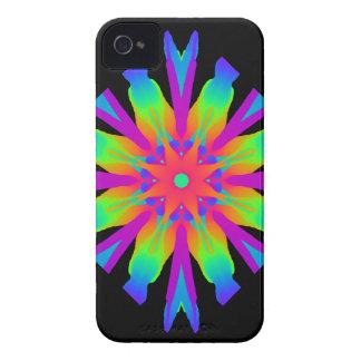 Neon Kaleidoscope Flower iPhone 4 Cases