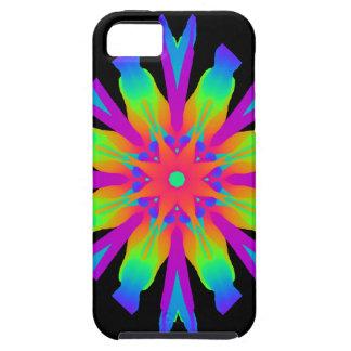 Neon Kaleidoscope Flower iPhone 5 Covers