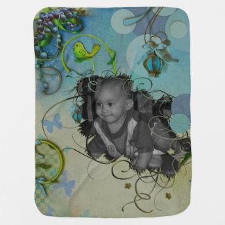 Neon Khaki Dawn Photo Frame Receiving Blanket