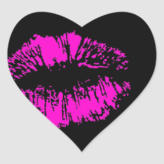 Neon Kiss Heart Sticker