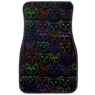 Neon Kitties Car Floor Mat