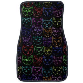 Neon Kitties Car Floor Mat