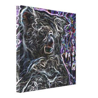Neon Koala 2 Gallery Wrap Canvas