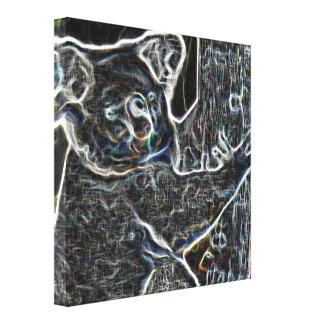 Neon Koala Stretched Canvas Prints