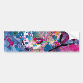 Neon Lady Bumper Sticker