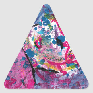 Neon Lady Triangle Sticker